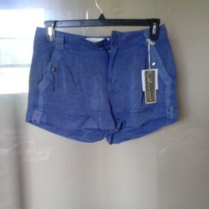 Ladies short size small blue